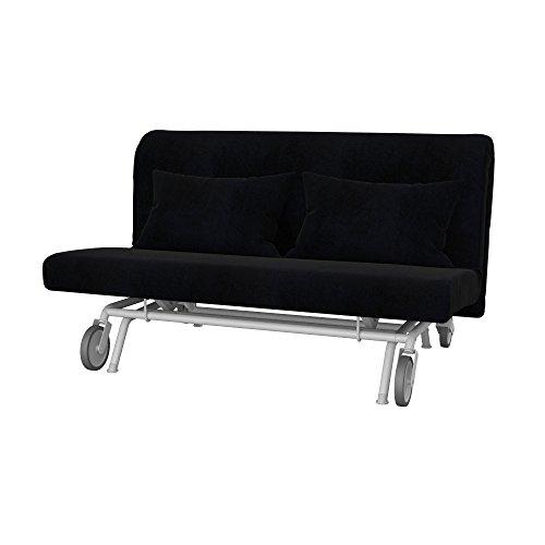 Soferia - IKEA PS Funda para sofá Cama de 2 plazas, Eco Leather Black