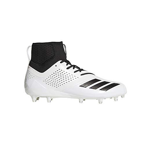 adidas Adizero 5-Star 7.0 Mid Cleat - Men's Football 14 White/Black