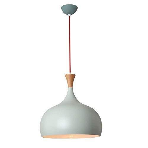 Lámpara de techo Nordic Modern Pendant Lamp, LED E27 Macaroon Business Candelabrum Restaurante Bar Personalidad simple Lámparas de madera maciza de color sólido, plafones (Color: verde) [Clase de efic