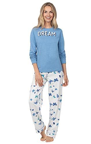 PajamaGram PJs for Women Set - Soft Pajamas, Cotton Jersey, Butterfly, 3X 24-26