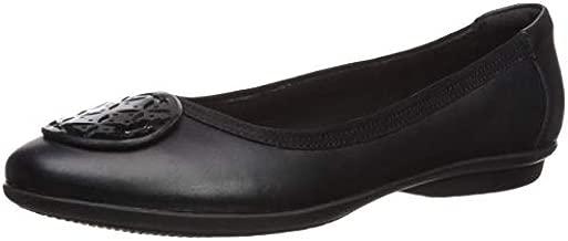 Clarks Women's Gracelin Lola Ballet Flat, Black Leather/Synthetic Combo, 9 Medium US