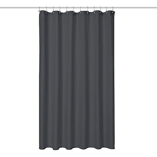 N&Y HOME Fabric Shower Curtain - Hotel Quality, Machine Washable, Water Repellent - Charcoal Gray, 72x72