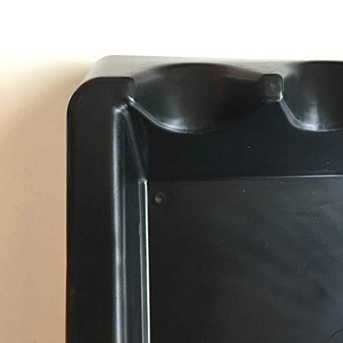 Professional trade freewheeler 6 rollerball black plastic wall rack for 6 pool snooker cues