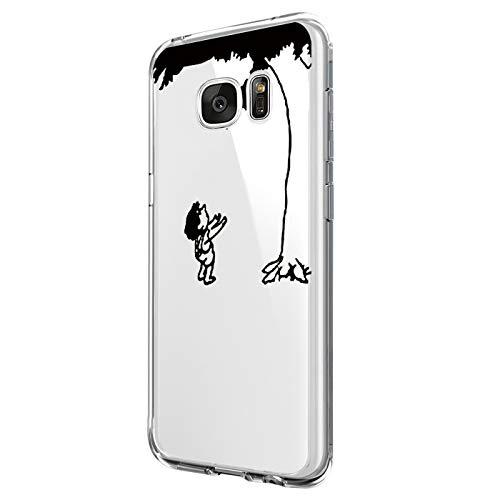 Jeack Hülle kompatibel mit Samsung Galaxy S6 Edge Floral Cover,Kristall Transparente Handyhülle mit weichem Silikon Ultra dünne Schutzhülle Bumper case für Samsung Galaxy S6 Edge (7)