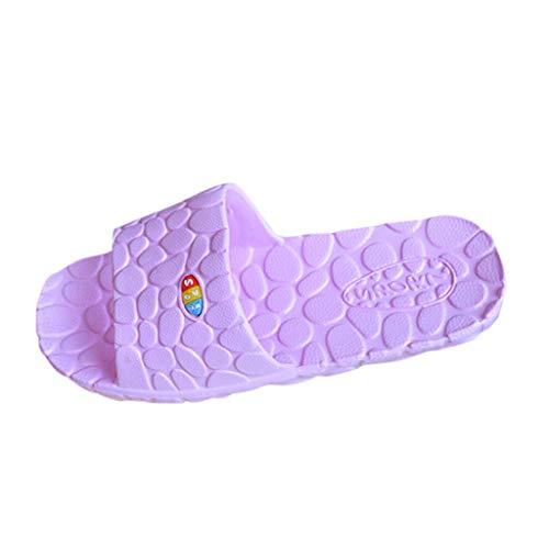 Lightweight Women/Men's Slip On Slippers Non-Slip Shower Sandals House Pool Shoes Bathroom Slide Water Shoes Purple