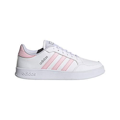 adidas BREAKNET, Zapatillas de Tenis Mujer, FTWBLA/ROSCLA/Plamet, 41 1/3 EU