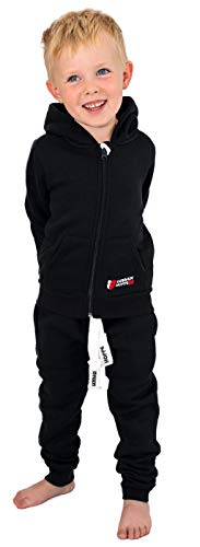 Gennadi Hoppe Kinder Sweat Jogginganzug Sportanzug Trainingsanzug, schwarz, 98/104
