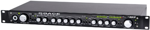 Grace Design m103 Verkabelt Schwarz - Audioverstärker (0,005%, 130 dB, 8100 Ohm, 150/300, 1,2 - 140000 Hz, 85-264)