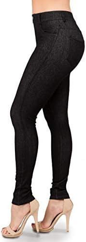 Ylluo Jean Look Leggings Women s Jeggings Pants S M Black Denim product image