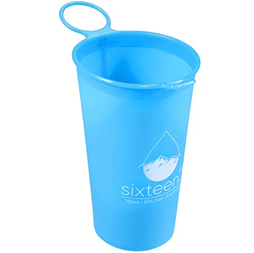 Teton Collapsible Cups for races and trail running   4-pack   Lightweight, reusable, silicone running water cup   Fits in your pockets, vests, or hydration belt.