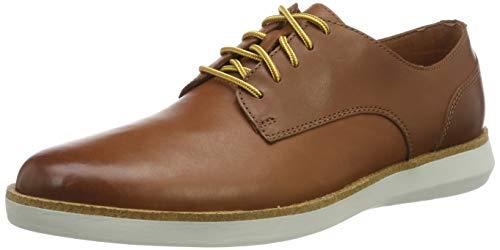 Clarks Fairford Run_Sneaker, Zapatillas Hombre, Piel Marrón, 44 EU