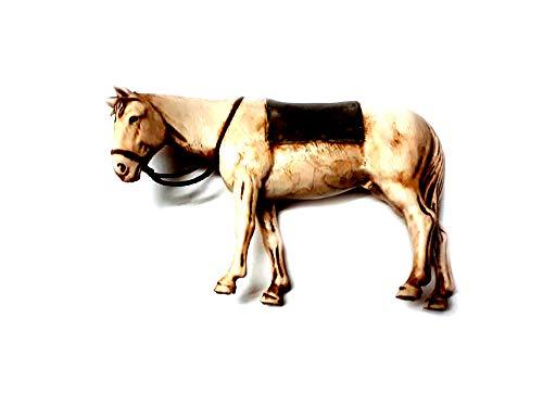 Recibe 1 animal caballo con manta apto para pastores 10 – 13 cm plástico Landi Belén San Gregorio Armenio Artesanales Llavero Amuleto regalo Shepherds Crib Gia
