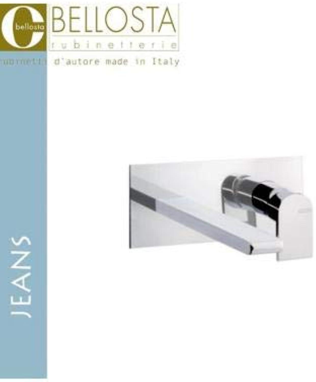 Bellosta 01–4805 3Q und Mischbatterie Waschbecken A Wand Platte einzige Quadra, chrom