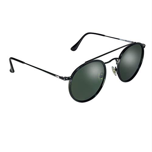 ERREBÉ EYEWEAR Gafas de Sol Polarizadas Alexandra Basic - Gafas de Sol Polarizadas Unisex (Black/Green)