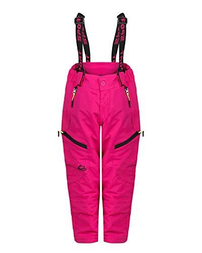 ZARMEXX Kinder Thermohose Jungen Mädchen Outdoor Snowboardhose Schneehose Winter Skihose Wanderhose (pink, 146)