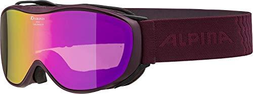 ALPINA Unisex - Erwachsene, CHALLENGE 2.0 HM Skibrille, cassis, One size