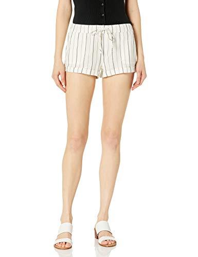 Volcom Women's Sunday Strut Elastic Waist Short, Black Stripe, X-SMALL