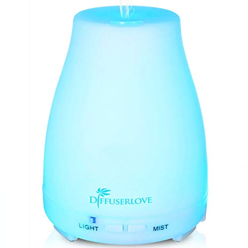 Diffuserlove Humidifiers Diffusers Quite Essential Oil Aromatherapy with 7 Color Night Lights Waterless Auto Shut-Off for Home Office Bedroom