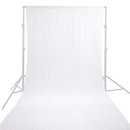fondale 1.8 * 2.7m / 6 * 9ft mussola Video Foto Photography Studio Sfondo bianco