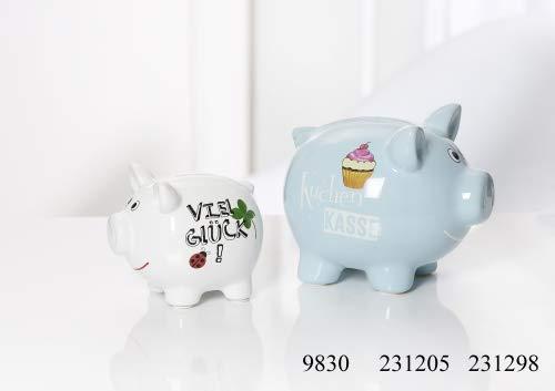 Ritzenhoff & Breker Sparschwein Größe Sparschwein 14 cm Hellblau Kuchenkasse