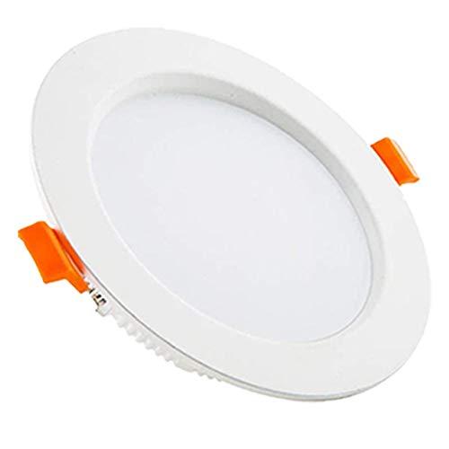 COMY Lampes Spot Encastrable LED Plafond 15W Non Dimmable Extra Plat AC 85-265V pour Salle De Bain Et Cuisine 3000K/ 4000K/ 5000K Diamètre Trou De Plafond 130-165MM [10 Pack],Cool White