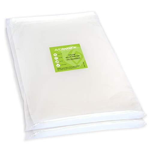 200 Gallon Vacuum Sealer Bags for Food Saver, Seal a Meal Vac Sealers, 11' x 16' Size, BPA Free, Heavy Duty Commercial Grade, Sous Vide Vaccume Safe, Universal Design Precut Storage Bag Avid Armor