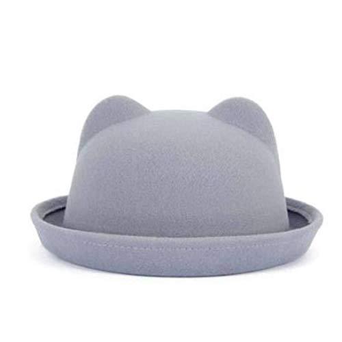 DWXWMZ Warme Wintermütze für Frauen gestrickte Katzenohren Pompon Caps weibliche Hüte Bonnet