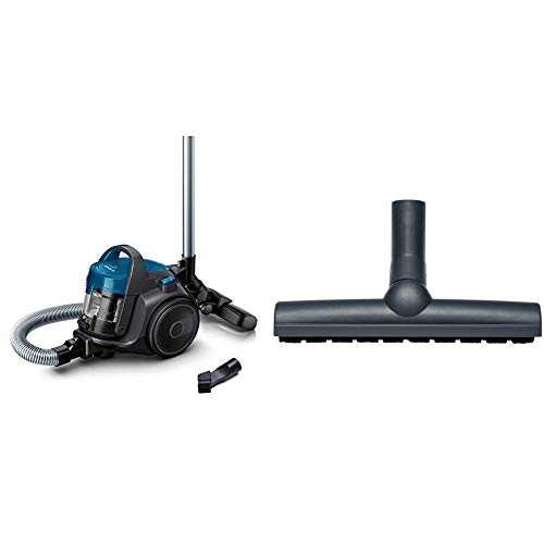 Bosch BGC05A220A Clean´n beutelloser Bodenstaubsauger (platzsparend, einfaches Entleeren, sehr leicht, 700 Watt) grau & BBZ123HD Bodenbürste für Parkett und Hartböden