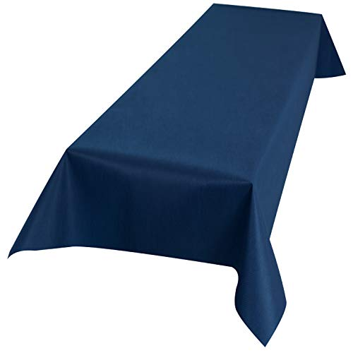 Sensalux Buffet-Tischdecke, Vlies, 1,5m x 3m, Oeko-TEX Standard 100 - Klasse I, abwischbar, Lotuseffekt, Blau