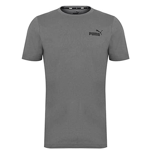 PUMA Hombre Small Logo Camiseta Deportiva Cuello Redondo Castlerock 2XL
