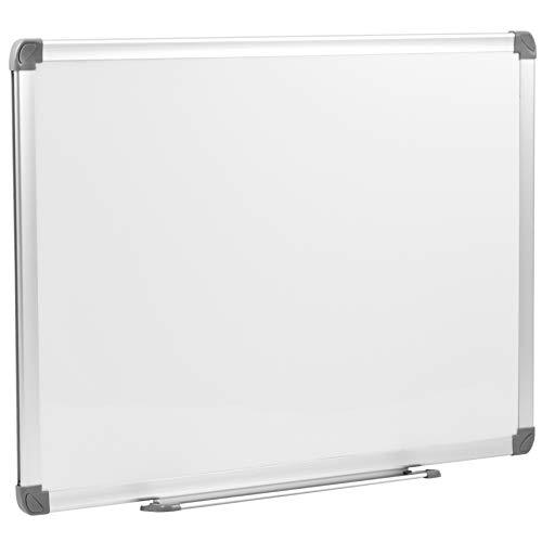 Danieli | Lavagna Bianca Magnetica Murale 60x45 White Board da Ufficio con Pannello Bianco Scrivibile a Secco e Cancellabile con viti per il fissaggio a muro, in orizzontale o verticale