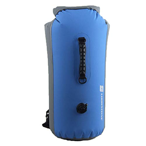 CapsA Floating Waterproof Dry Bag 35L / 25L Able Inflatable Waterproof Dry Bag Roll Top Dry Compression Sack Keeps Gear Dry for Kayaking Rafting Boating Swimming Camping Hiking Fishing (Blue, 25L)