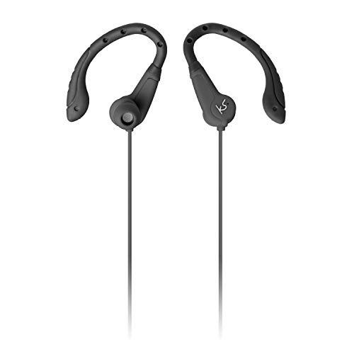 KitSound Exert Wired Sports Earphones - With Microphone - Black
