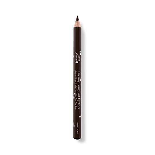 100% PURE Long Last Eyeliner, Dark Cacao, Creamy Eyeliner Pencil, Colored Eyeliner, Long-Lasting, Easy to Apply Eye Makeup, Vegan Makeup (Brown) - 0.14 oz (0.14 Ounce Pencil)