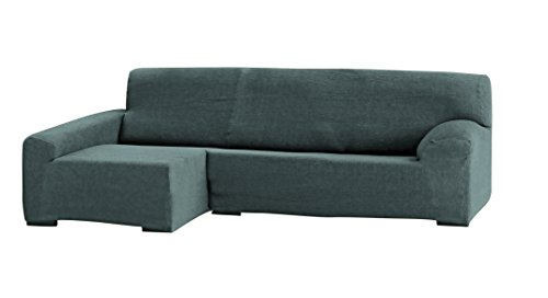 Eysa Teide Chaise Longue- Funda para sofá, 240 cm. izquierda vista frontal - col. 06-gris
