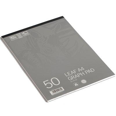 Rhino - Blocco di 50 fogli millimetrati e bianchi, formato A4, 2:10:20