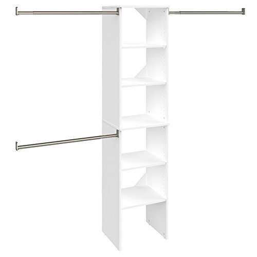 ClosetMaid SuiteSymphony Starter Tower Kit, 16', Pure White