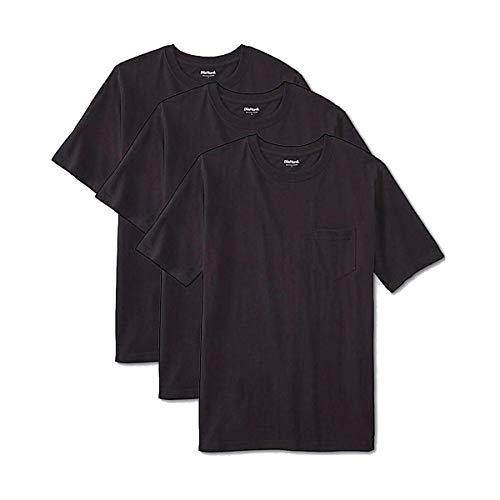 DieHard Men's Pocket T-Shirt (Black, L) (Pack of 3)