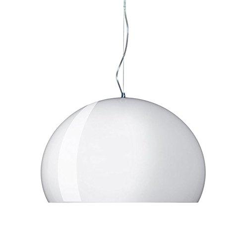 Kartell Small Fl/Y Lampada da Soffitto E27, 15 W, Bianco Lucido, 232 x 38 x 28 cm