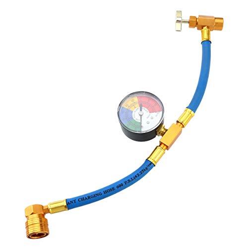 Vosarea Tubo di ricarica per refrigeratore R134A per aria condizionata con manometro per auto (1/2 cavo per EE! UU ed Europa)