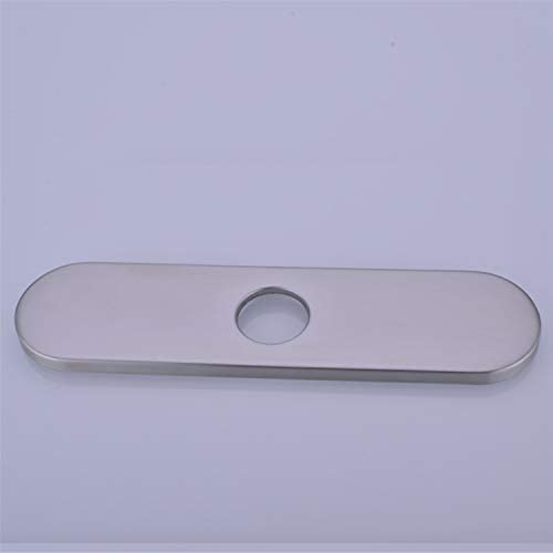 Colorhome 10inch Faucet Escutcheon Plate Brushed Nickel Sink Faucet Hole Cover Kitchen Faucet product image