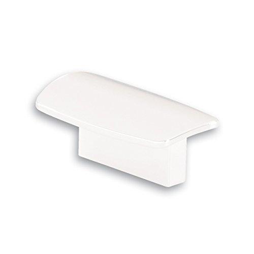 SIRO Möbelgriff Miesbach, Modern, Kunststoff weiß, 65 mm x 24 mm x 31 mm, LA 32 mm, SM8189I-65K60