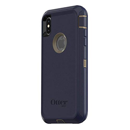 OtterBox Defender Series Case for iPhone Xs Max (ONLY), Case Only - Bulk Packaging - Dark Lake (Chinchilla/Dress Blues)