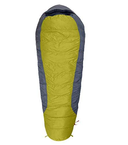 Warmpeace Viking 1200 Daunen-Schlafsack komfortabler Winter- und Expeditionsschlafsack mit durchdachten Details Camping Outdoor Grau, Größe:180 cm