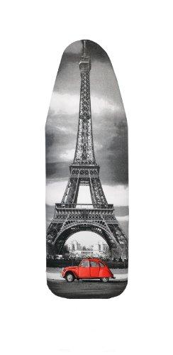 Copriasse da Stiro con 5 mm supporto in schiuma, Paris, 148/52cm, 100% Cotone