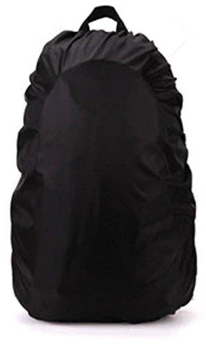 Hollwald Housse de Protection Anti Pluie Anti Poussière Résistance à l'Eau Preuve pour l'Extérieur Voyage Équitation Escalade 35-45SL Sac à Dos (noir, M)