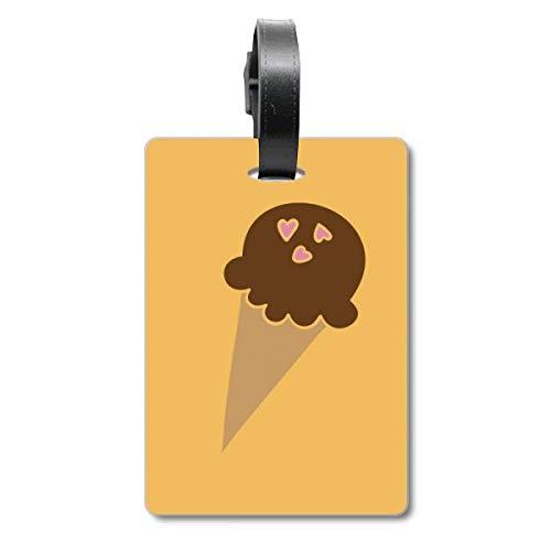 Amendoim Chocolate Doce Sorvete Bagagem Etiqueta Cartão de Bagagem Etiqueta Scutcheon Etiqueta