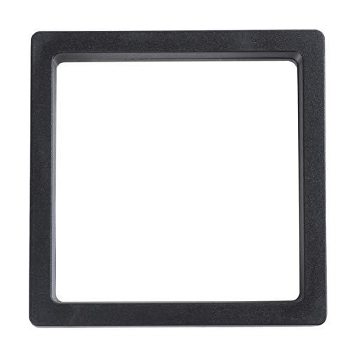 TOOGOO Vetrine quadrate in 3D con Cornice Contenitore per Monete Espositore per Gioielli Espositore per Gioielli, 9 x 9 cm (con Base)