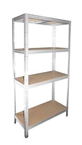shelfplaza® HOME Estantería galvanizada 155x30x30cm / estanterías fuertes, estantería de 4 baldas, estanterías metálicas almacenaje, estantería de metal insertable, capacidad de carga de 175kg