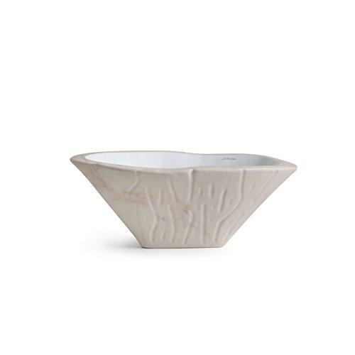 Vasque Lavabo à Poser/Suspendu Ovale Terra Rose Portugal en céramique - 54x46xh20 cm (avec bassin blanc)